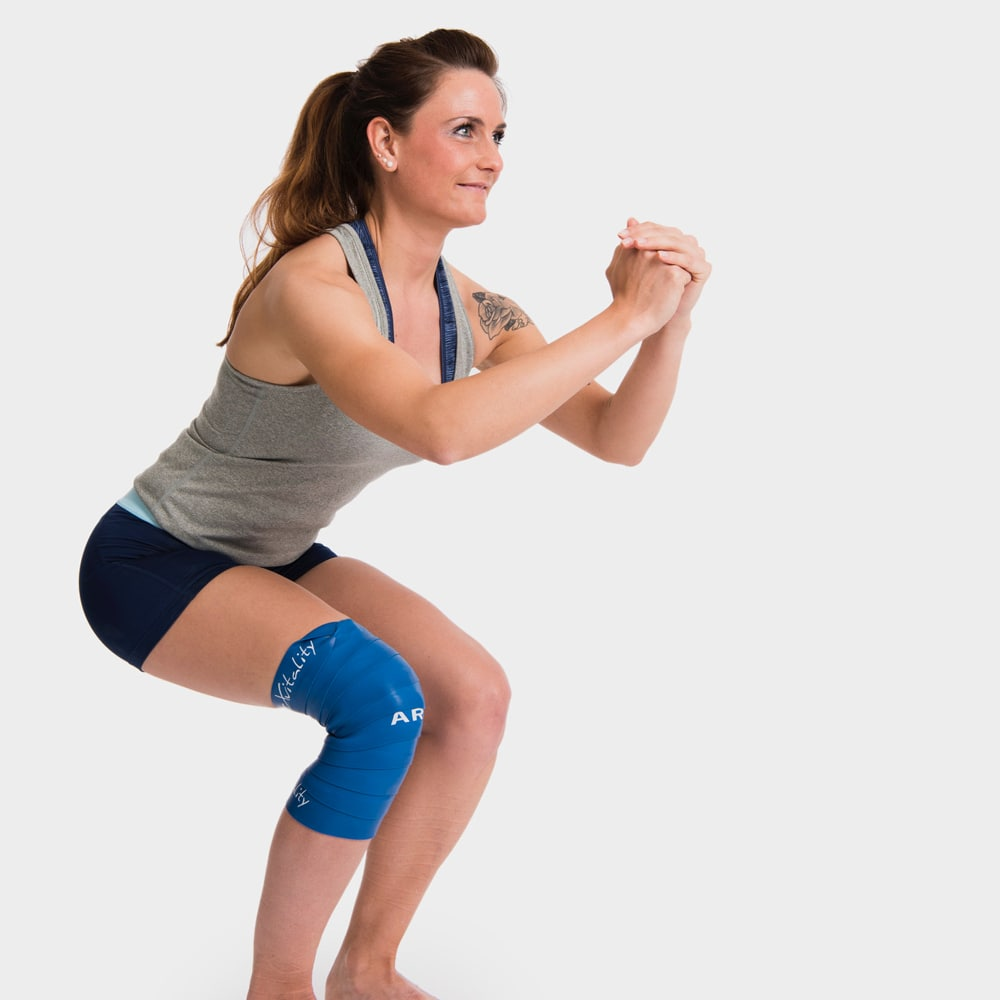Beispiel einer Flossing-Behandlung am Kniegelenk
