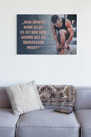Fitness-Bilder auf Leinwand